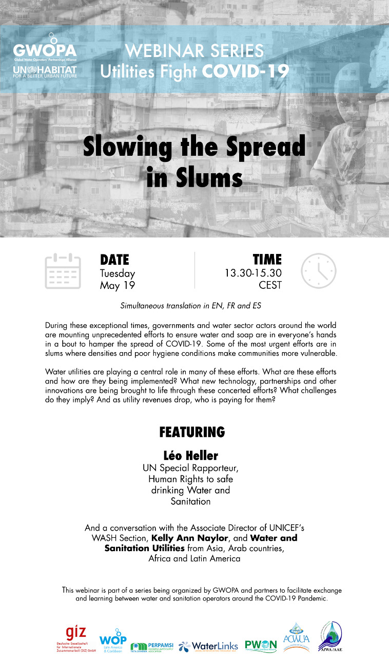 Webinar Series Utilities Fight Covid-19: Slowing the Spread in Slums